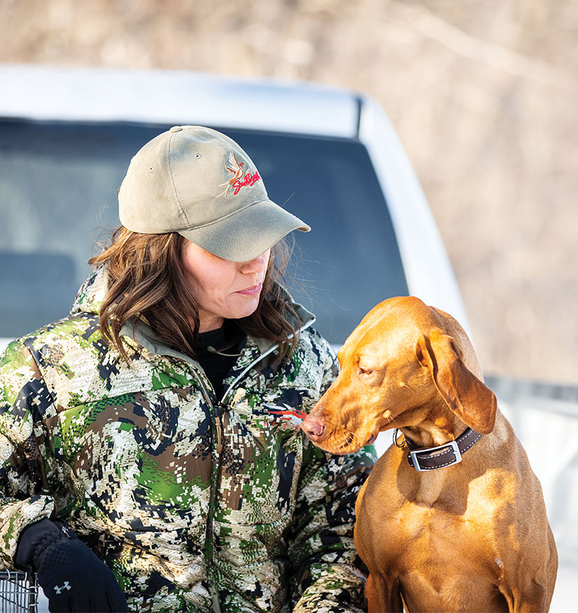 Governor Noem Hunting with Dog
